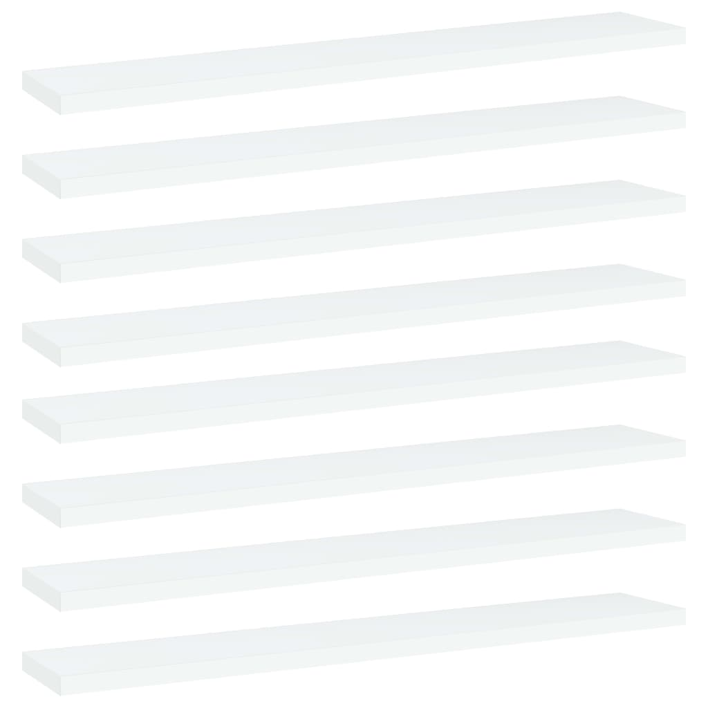Přídavné police 8 ks bílé 60 x 10 x 1,5 cm dřevotříska
