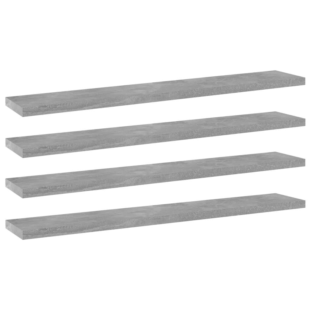 vidaXL Wandschappen 4 st 60x10x1,5 cm spaanplaat betongrijs