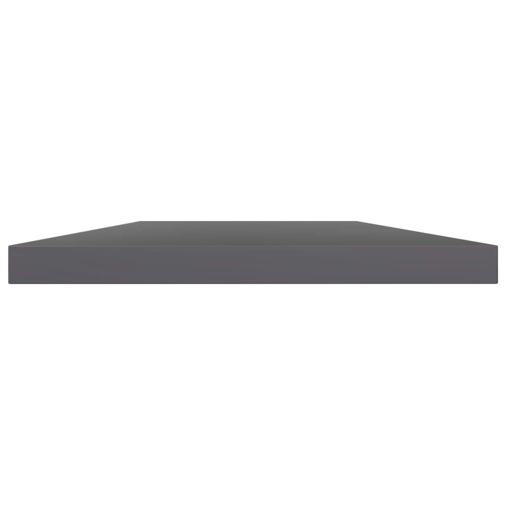 vidaXL Wandschappen 4 st 60x10x1,5 cm spaanplaat hoogglans grijs