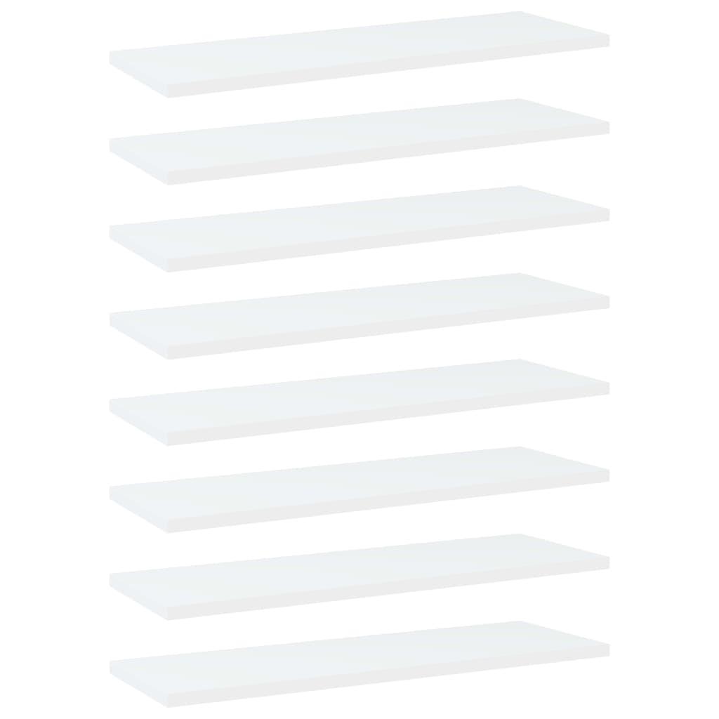 vidaXL Plăci bibliotecă, 8 buc., alb, 60 x 20 x 1,5 cm, PAL imagine vidaxl.ro