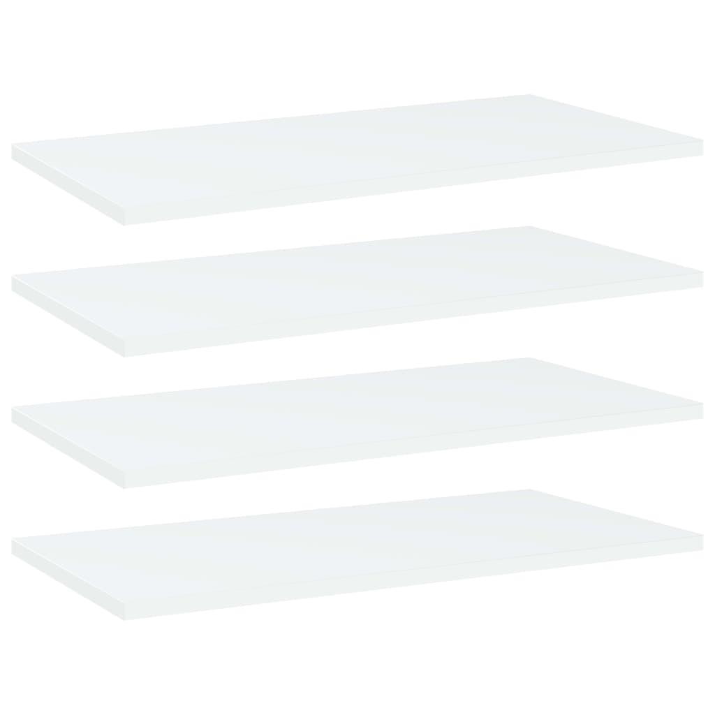 vidaXL Plăci bibliotecă, 4 buc., alb, 60 x 30 x 1,5 cm, PAL imagine vidaxl.ro