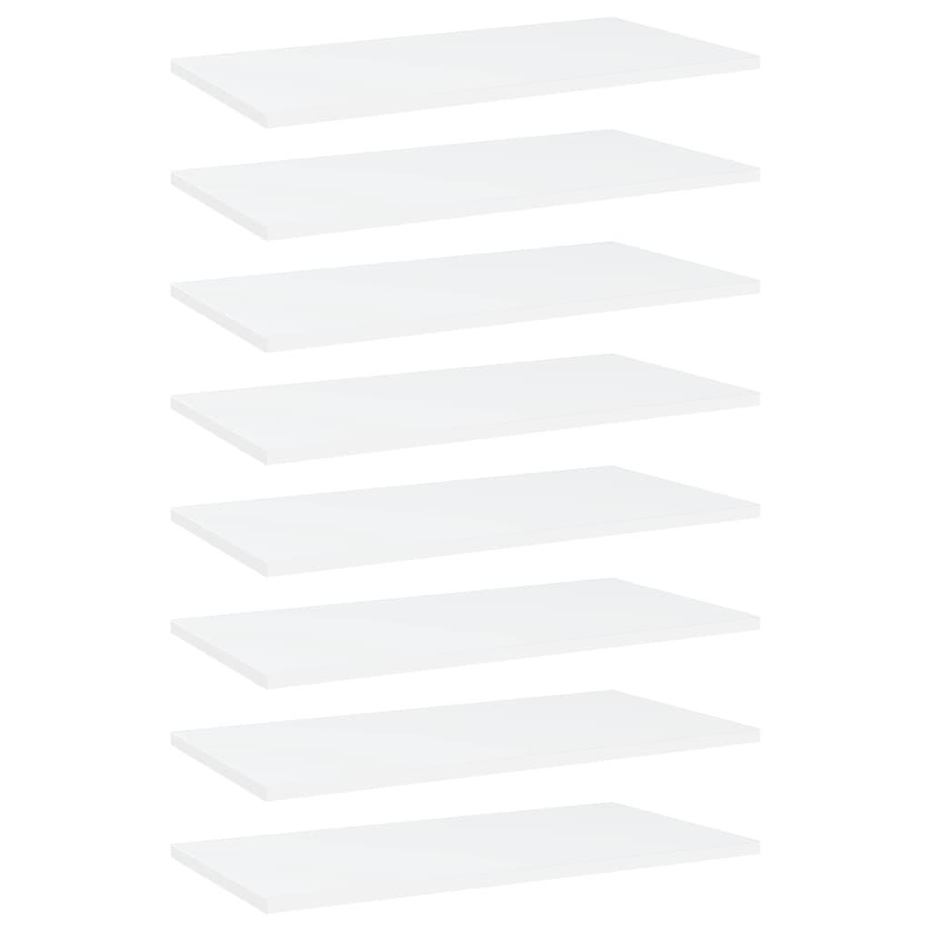 vidaXL Plăci bibliotecă, 8 buc., alb, 60 x 30 x 1,5 cm, PAL poza 2021 vidaXL