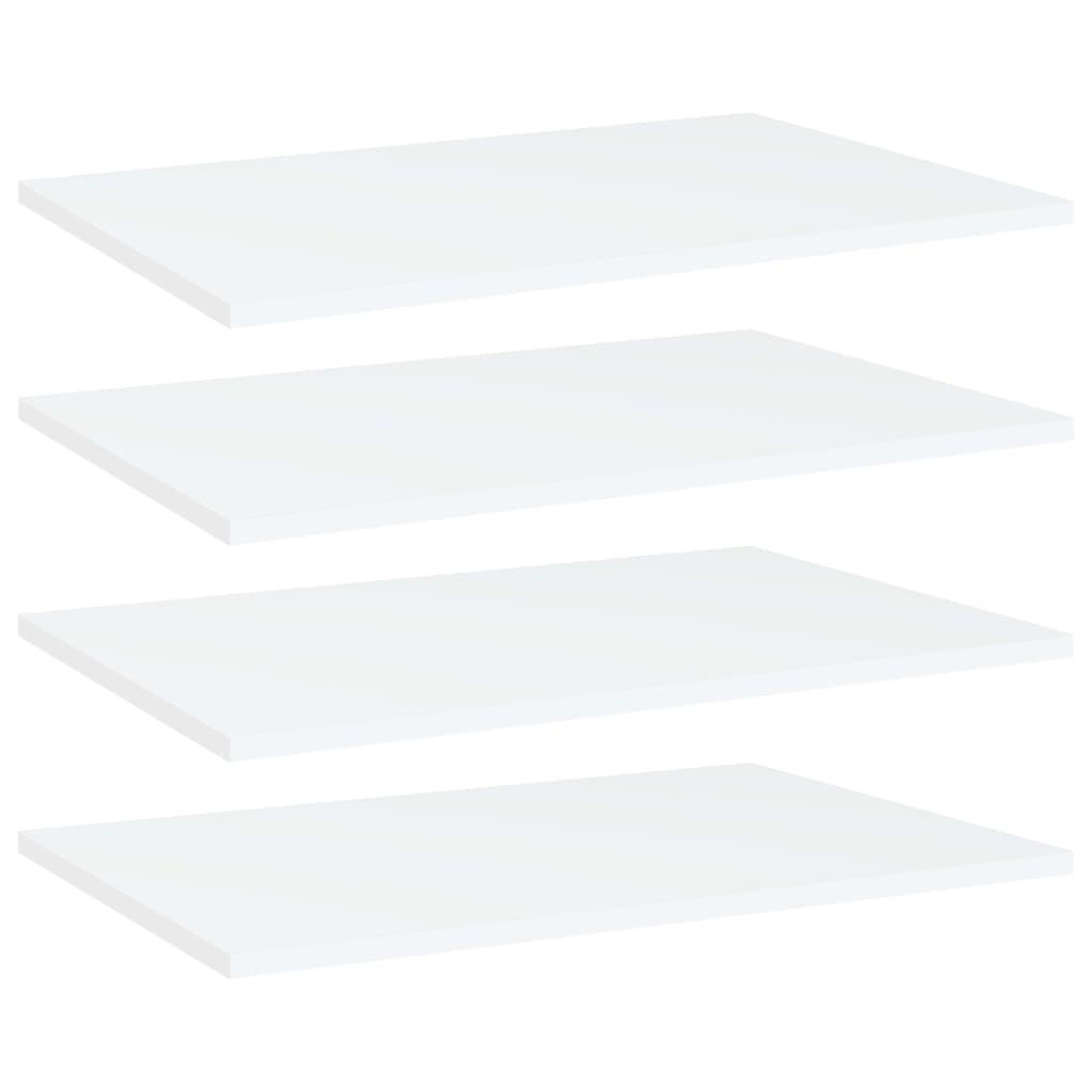 vidaXL Plăci bibliotecă, 4 buc., alb, 60 x 40 x 1,5 cm, PAL poza vidaxl.ro