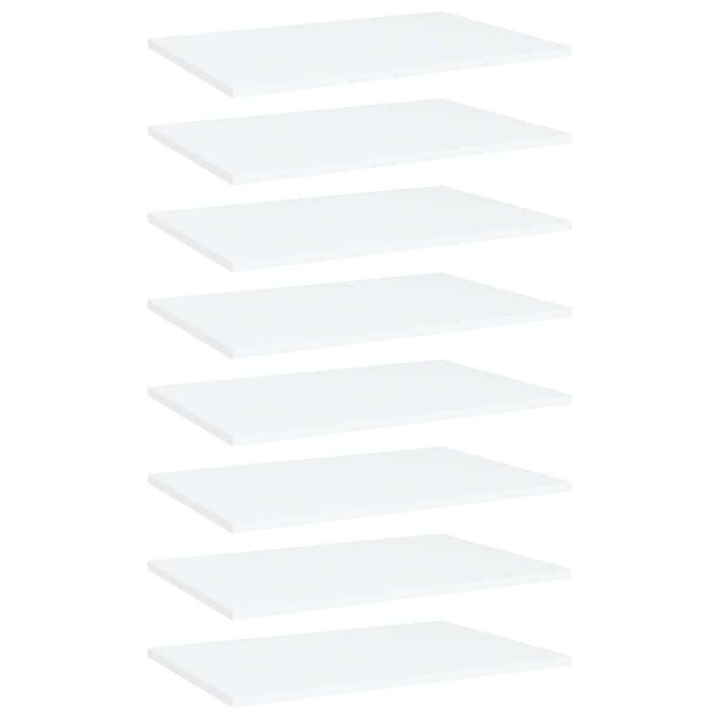 vidaXL Plăci bibliotecă, 8 buc., alb, 60 x 40 x 1,5 cm, PAL poza 2021 vidaXL