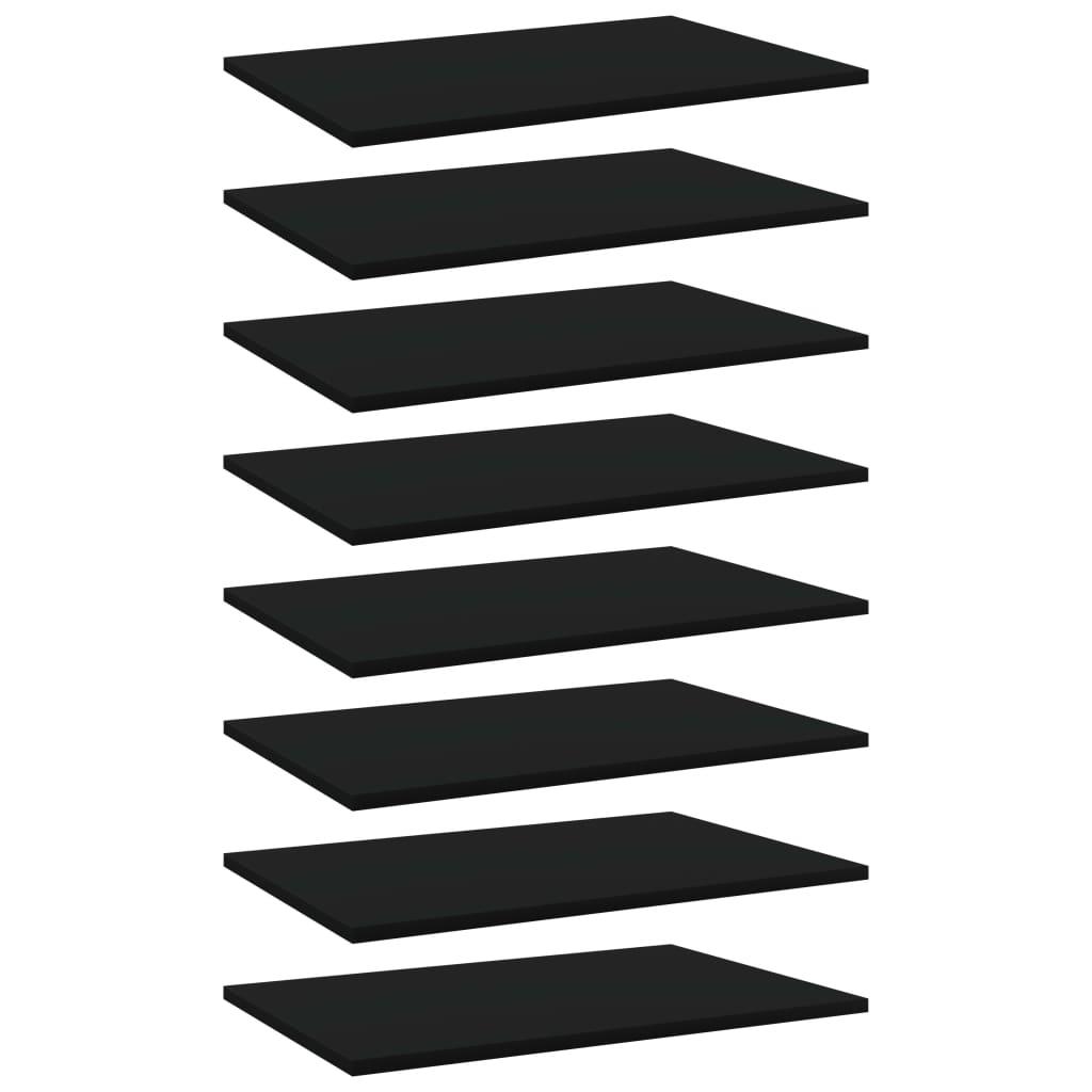 vidaXL Plăci pentru bibliotecă, 8 buc., negru, 60 x 40 x 1,5 cm, PAL vidaxl.ro