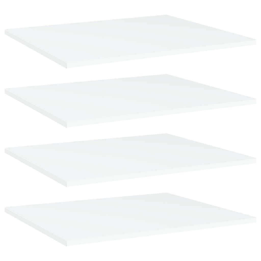vidaXL Plăci bibliotecă, 4 buc., alb, 60 x 50 x 1,5 cm, PAL vidaxl.ro