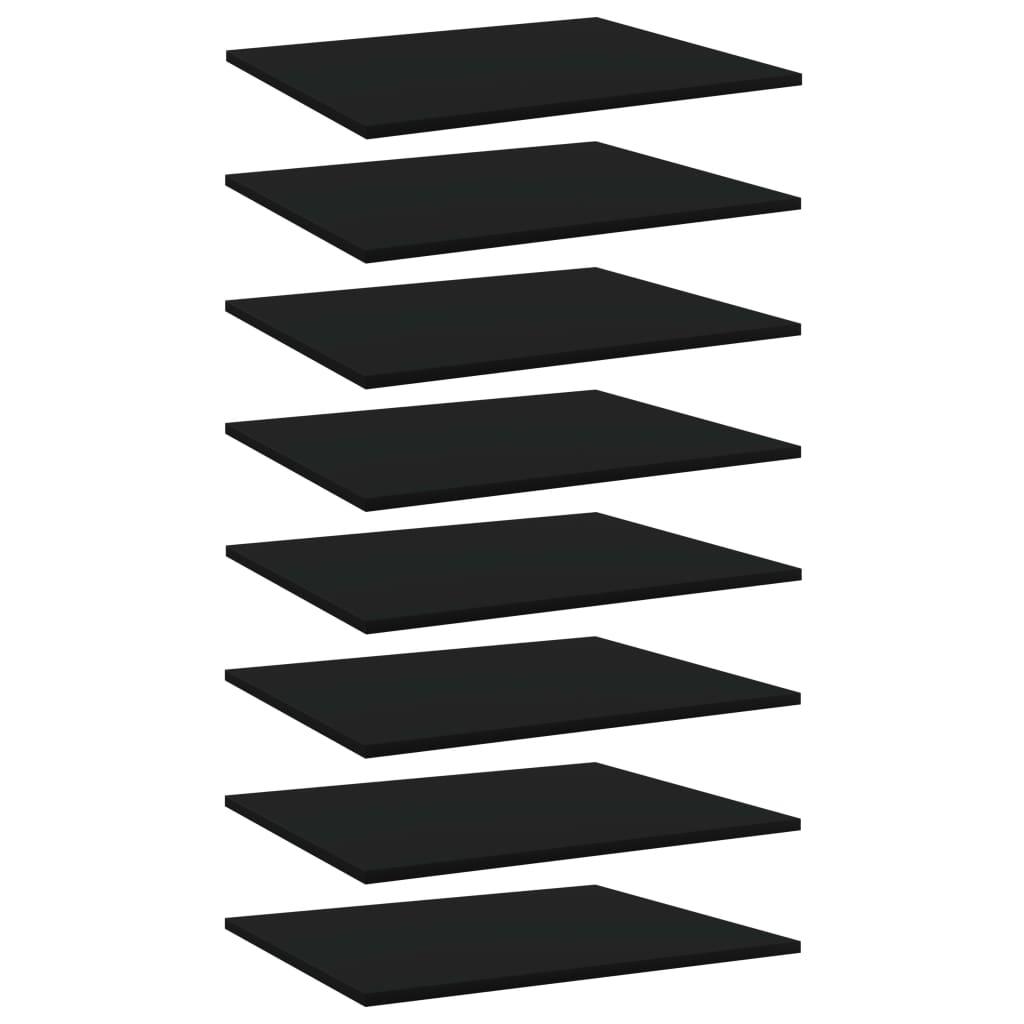 vidaXL Plăci pentru bibliotecă, 8 buc., negru, 60 x 50 x 1,5 cm, PAL imagine vidaxl.ro