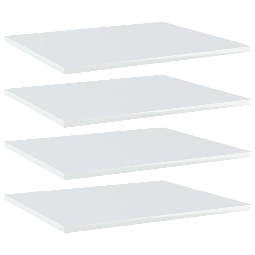 vidaXL Plăci bibliotecă, 4 buc., alb extralucios, 60 x 50 x 1,5 cm PAL imagine vidaxl.ro