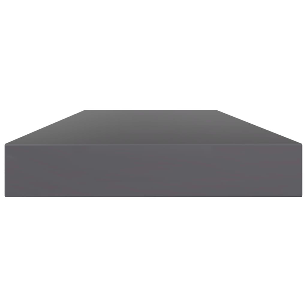 vidaXL Wandschappen 4 st 80x10x1,5 cm spaanplaat hoogglans grijs