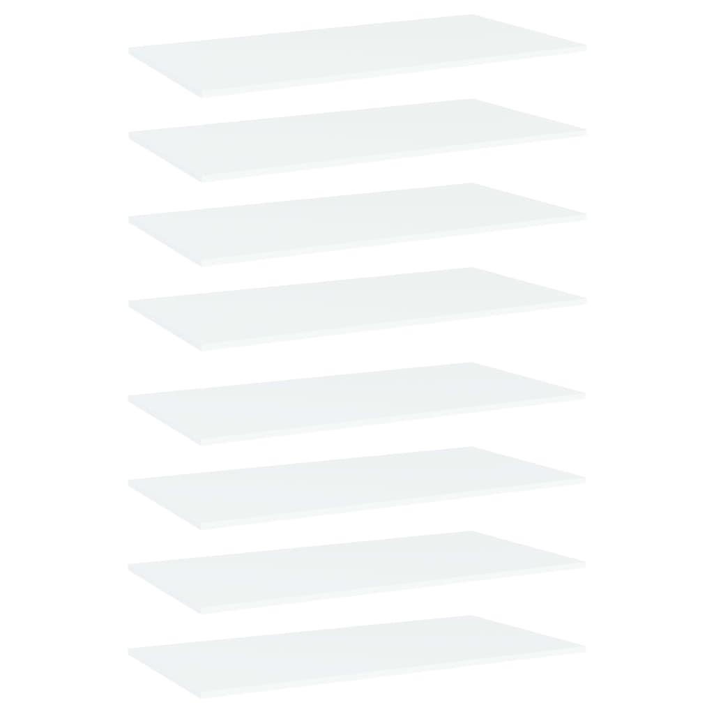 vidaXL Plăci bibliotecă, 8 buc., alb, 80 x 30 x 1,5 cm, PAL poza vidaxl.ro