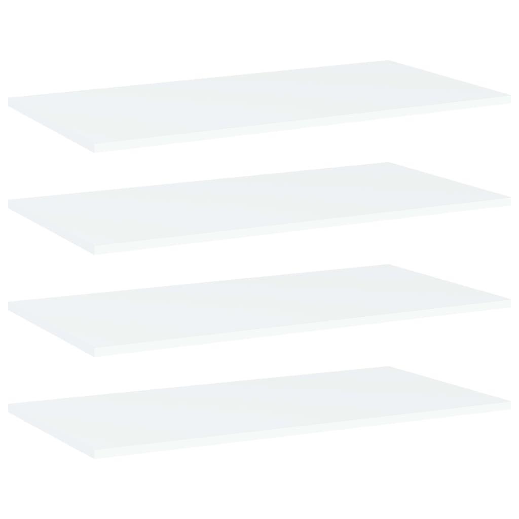 vidaXL Plăci bibliotecă, 4 buc., alb, 80 x 40 x 1,5 cm, PAL imagine vidaxl.ro