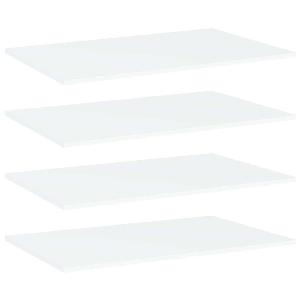 Riiuliplaadid 4 tk, valge, 8..