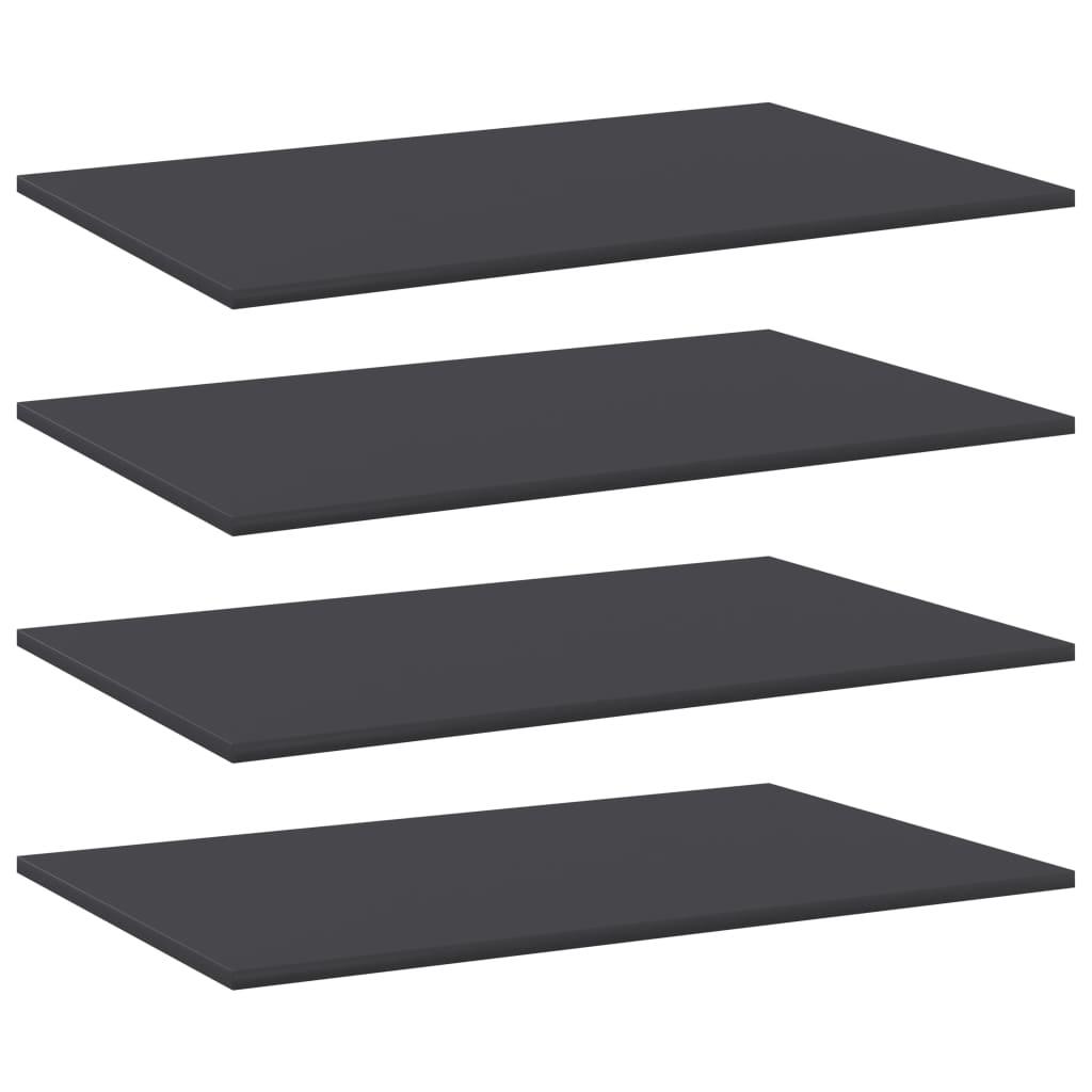 vidaXL Wandschappen 4 st 80x50x1,5 cm spaanplaat grijs