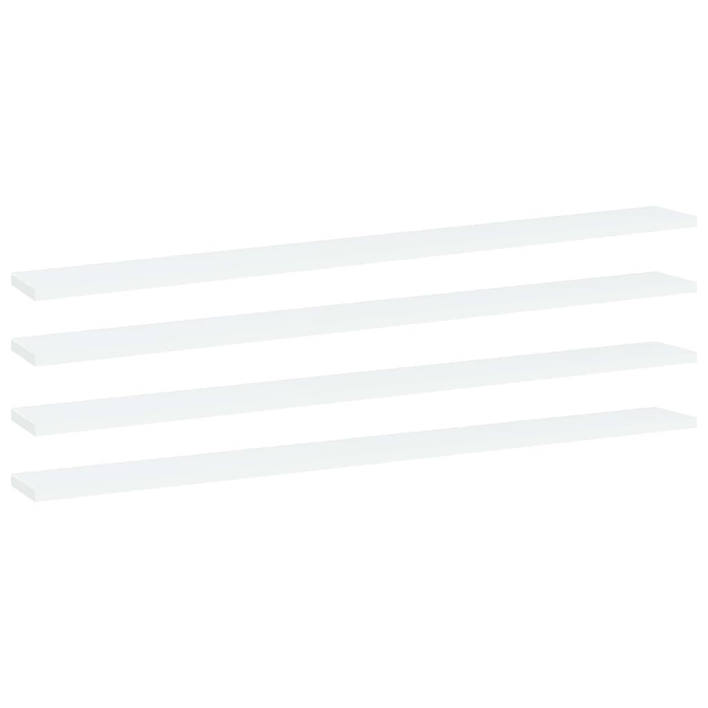 vidaXL Plăci bibliotecă, 4 buc., alb, 100 x 10 x 1,5 cm, PAL imagine vidaxl.ro