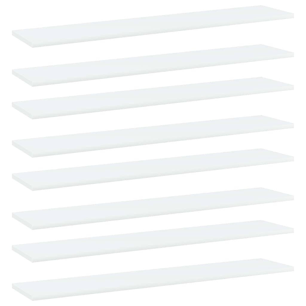 vidaXL Plăci bibliotecă, 8 buc., alb, 100 x 20 x 1,5 cm, PAL imagine vidaxl.ro