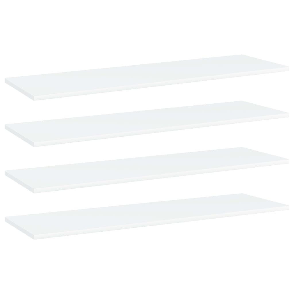 vidaXL Plăci bibliotecă, 4 buc., alb, 100 x 30 x 1,5 cm, PAL poza vidaxl.ro
