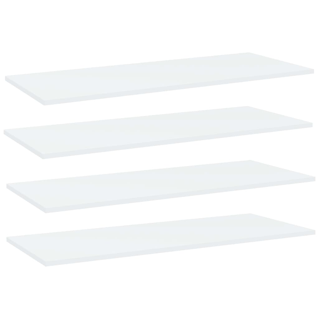 vidaXL Plăci bibliotecă, 4 buc., alb, 100 x 40 x 1,5 cm, PAL poza vidaxl.ro