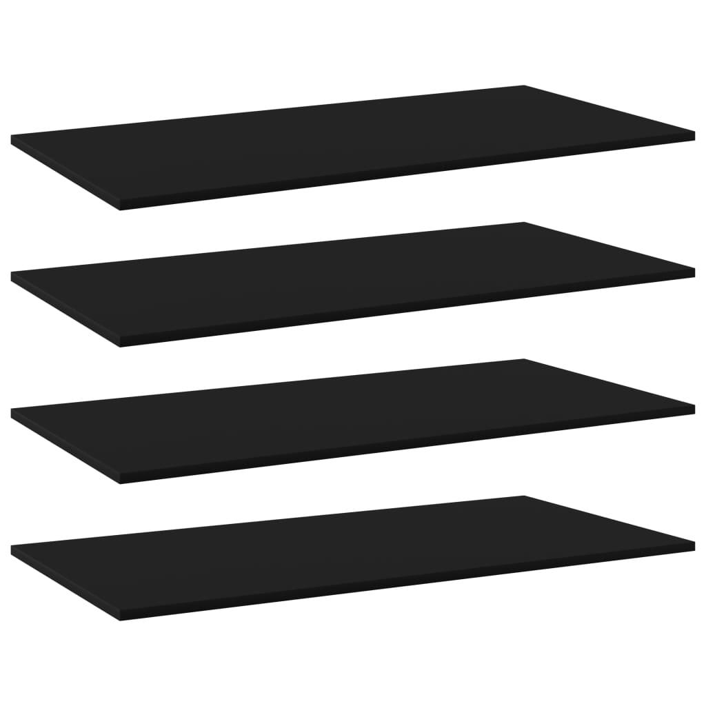 vidaXL Plăci bibliotecă, 4 buc., negru, 100 x 50 x 1,5 cm, PAL vidaxl.ro