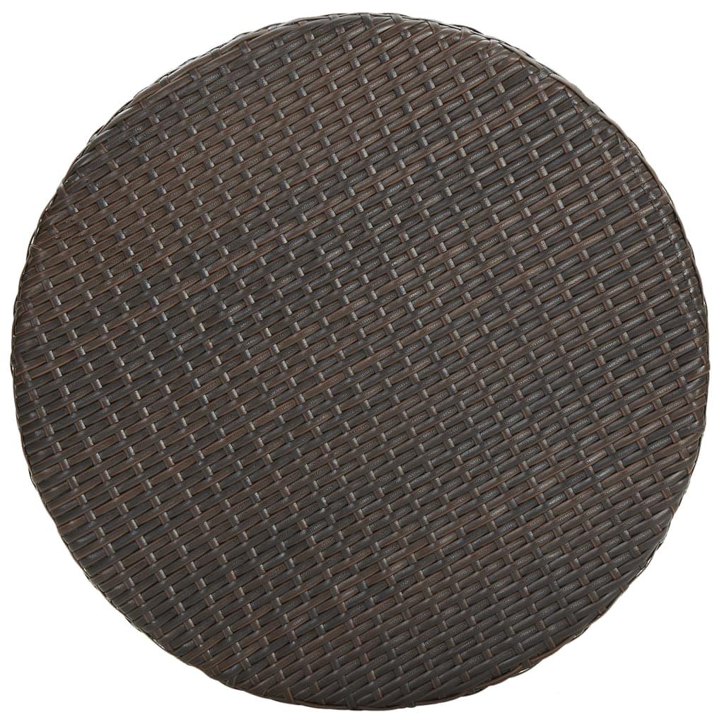 vidaXL 5-delige Tuinbarset met kussens poly rattan bruin