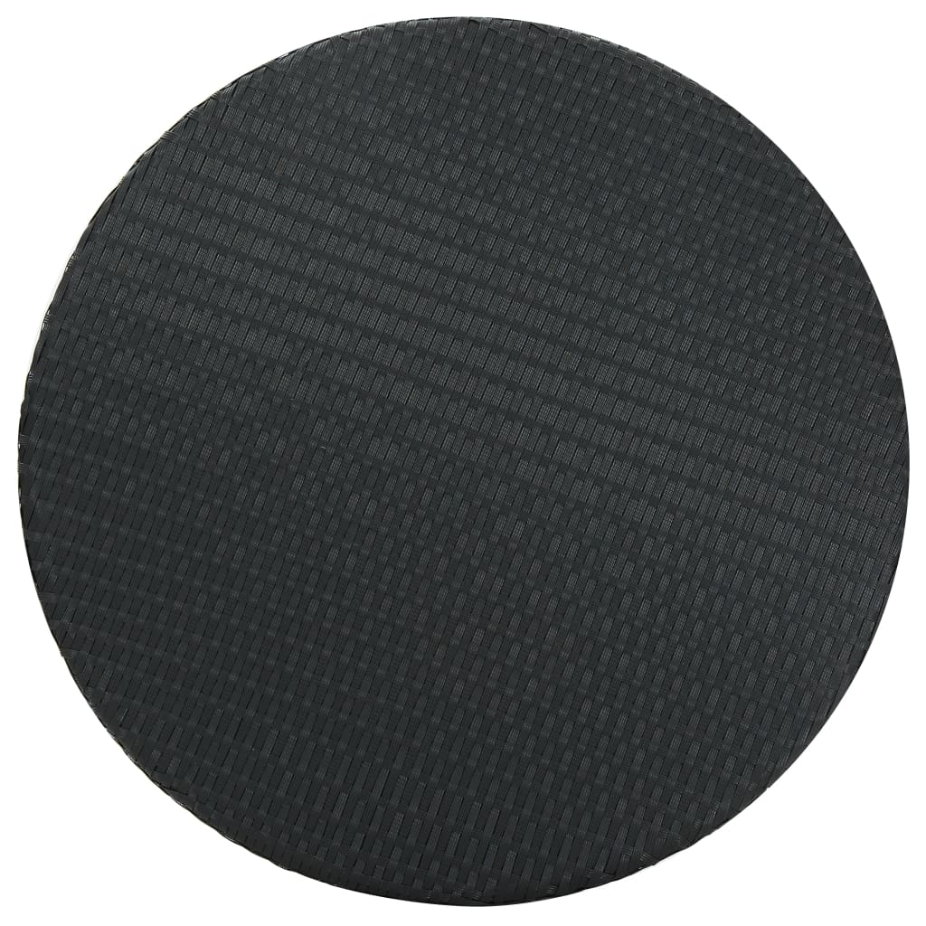 vidaXL 5-delige Tuinbarset met kussens poly rattan zwart