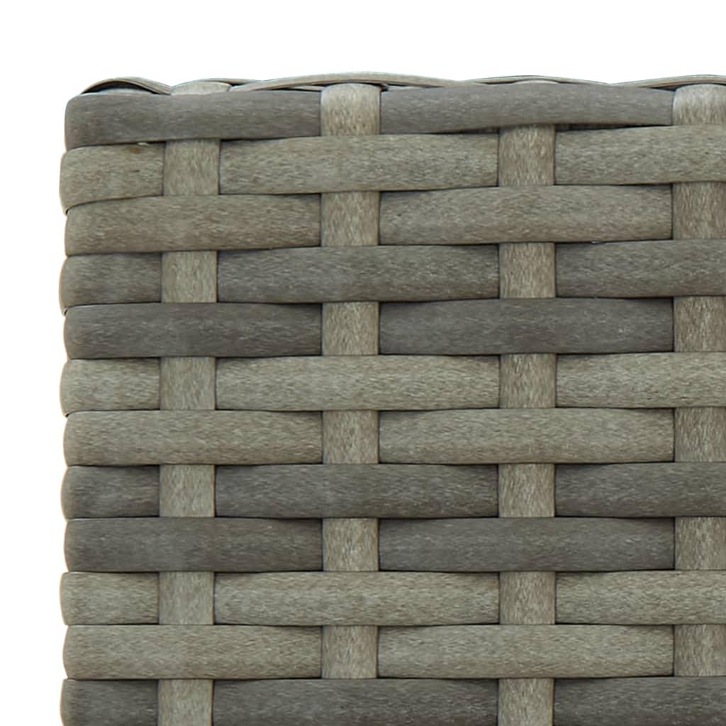 vidaXL 5-delige Tuinbarset poly rattan grijs