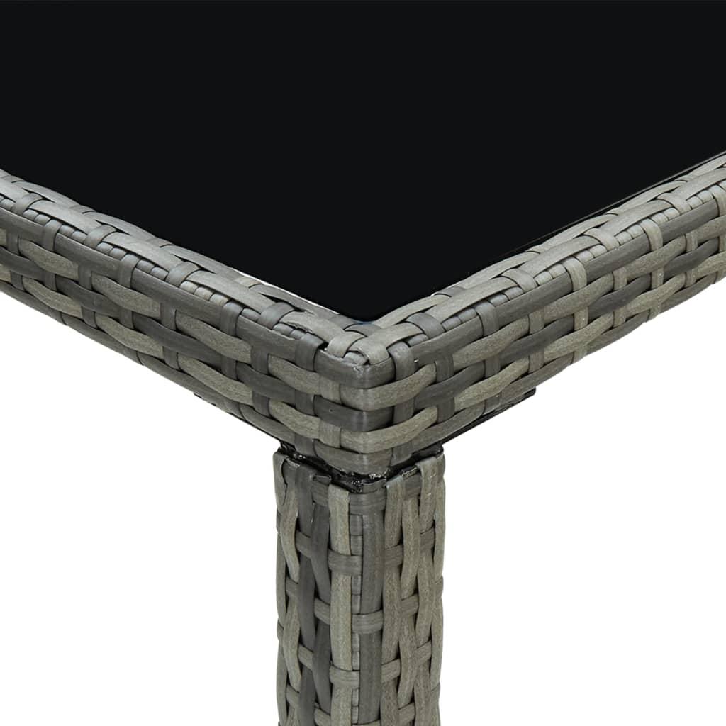 vidaXL 9-delige Tuinbarset met kussens poly rattan grijs