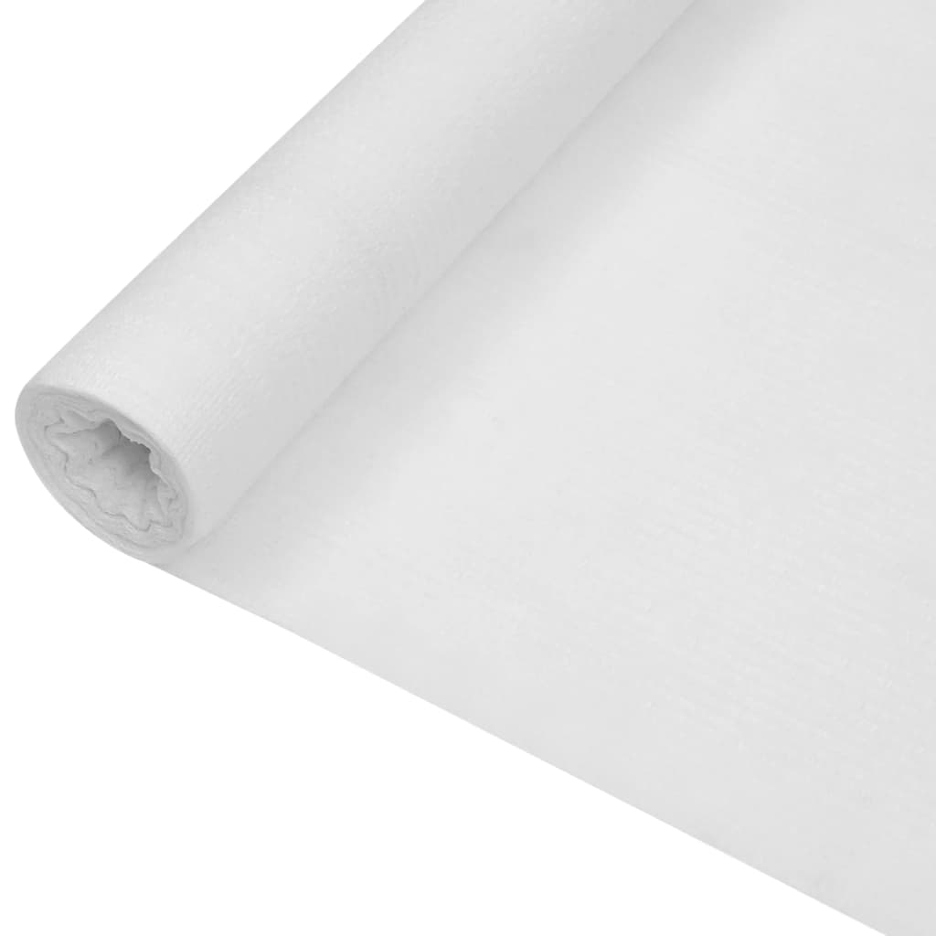 Zaunblende Weiß 1×25 m HDPE 75 g/m²