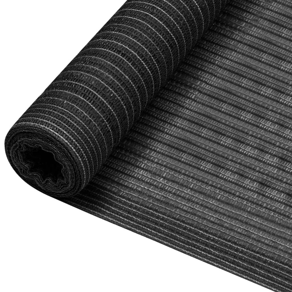 vidaXL afskærmning 1,8×10 m 195 g/m² HDPE antracitgrå