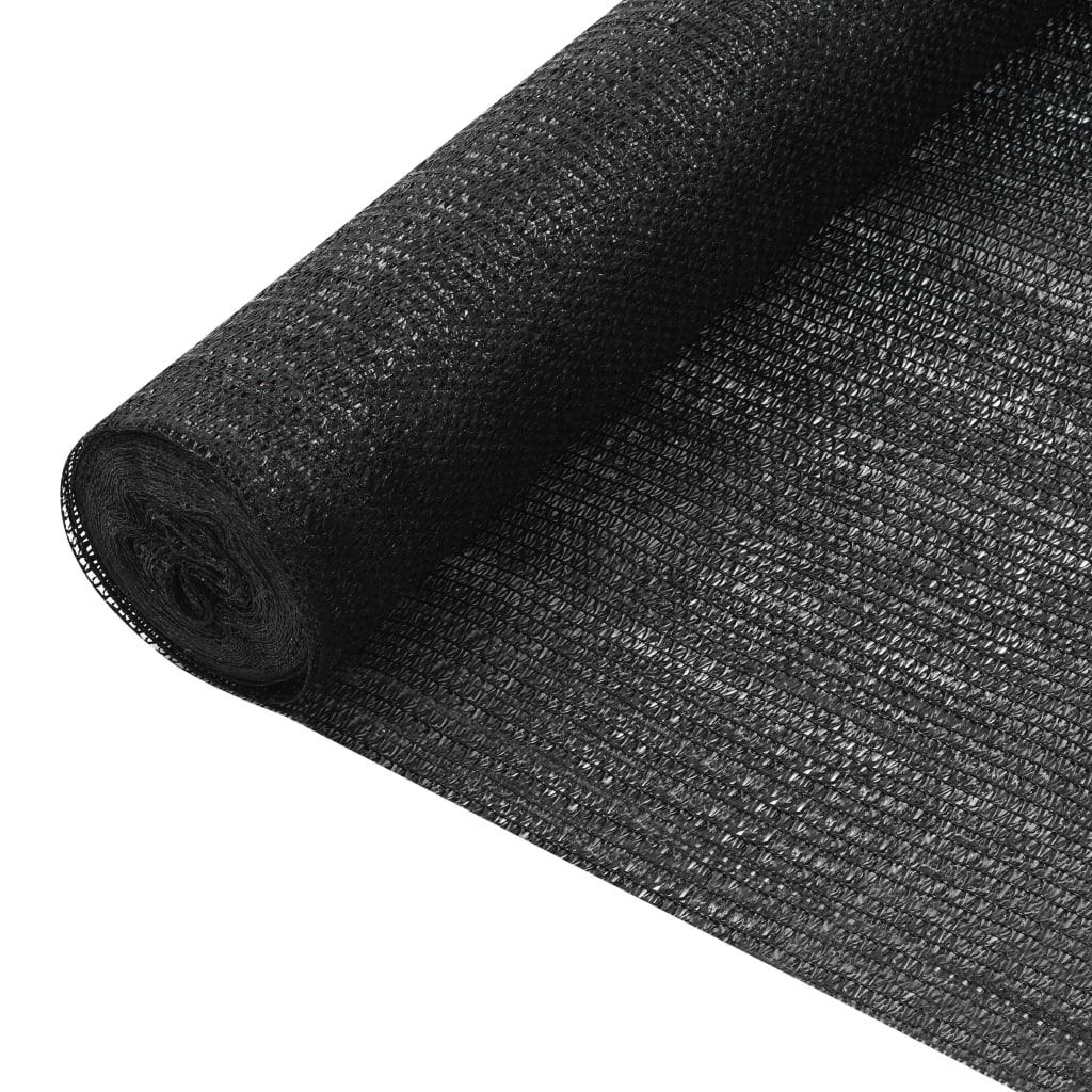 Privacynet 75 g/m² 3,6x25 m HDPE zwart