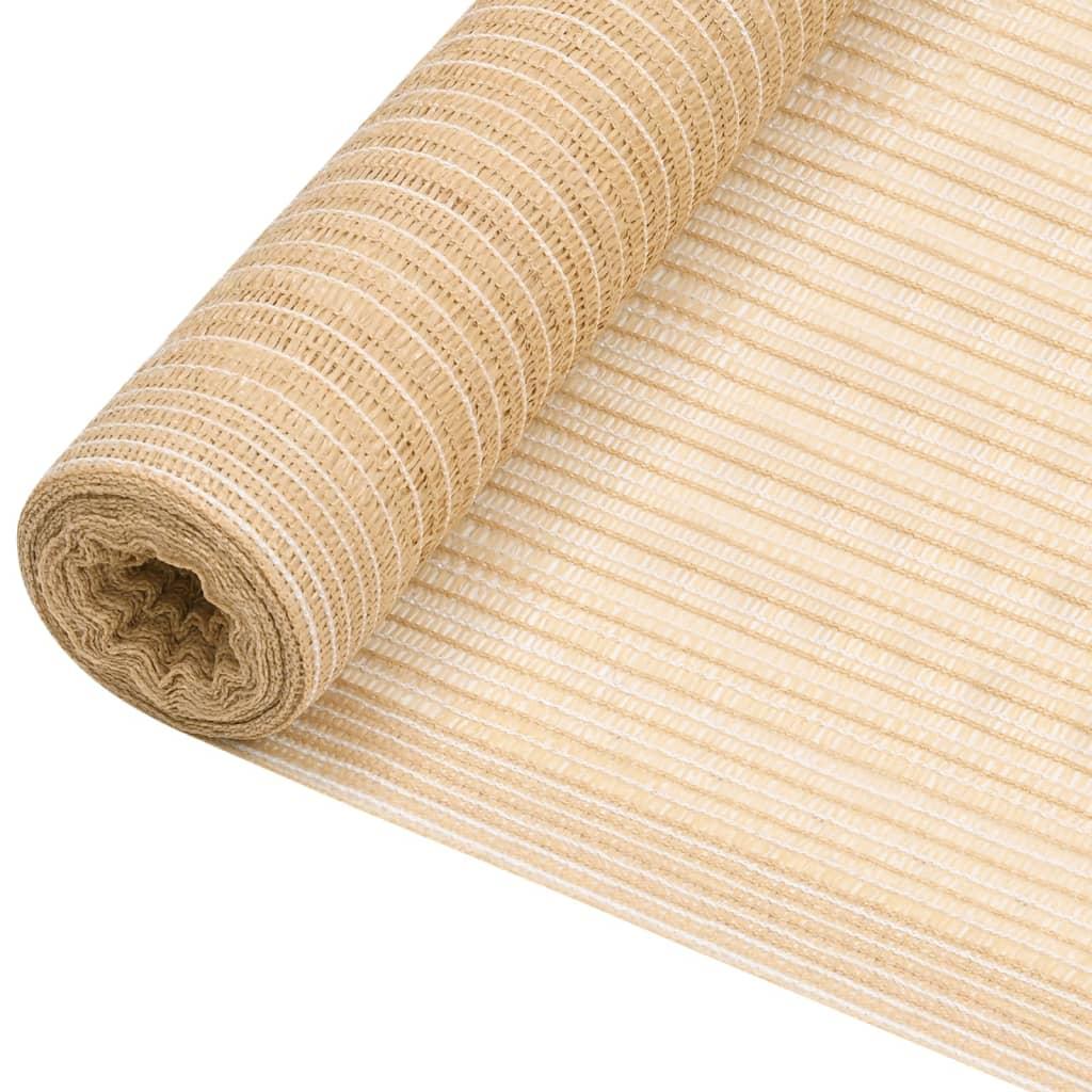 <ul><li>Farbe: Beige</li><li>Material: 100% HDPE (hochdichtes Polyethylen)</li><li>Dichte: 150 g/m²</li><li>Größe: 3,6 x 25 m (B x L)</li><li>Schimmel- und UV-beständiges, atmungsaktives HDPE</li></ul>