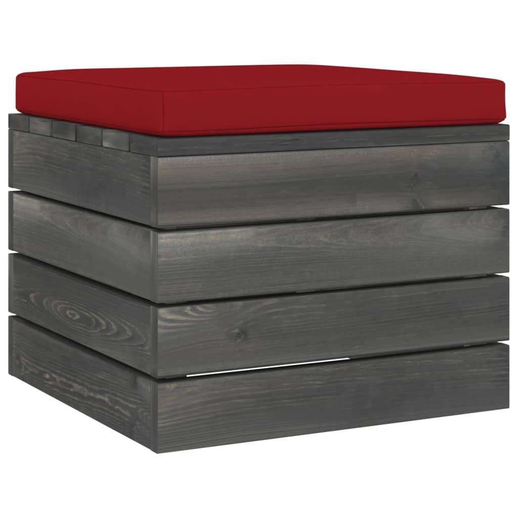 vidaXL 3-delige Loungeset met kussens pallet massief grenenhout