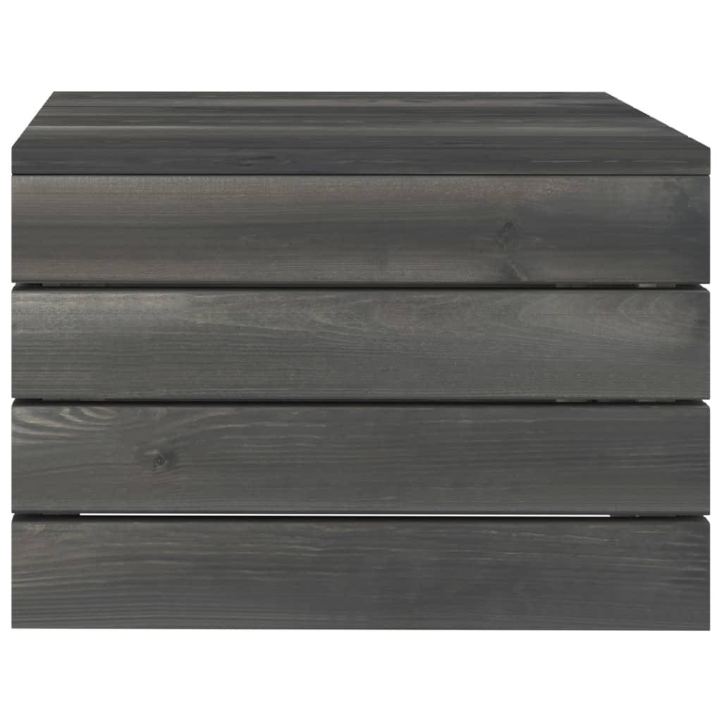 5-delige Loungeset met kussens pallet massief grenenhout