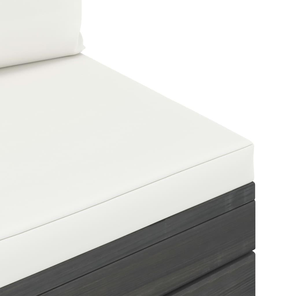 6-delige Loungeset met kussens pallet massief grenenhout