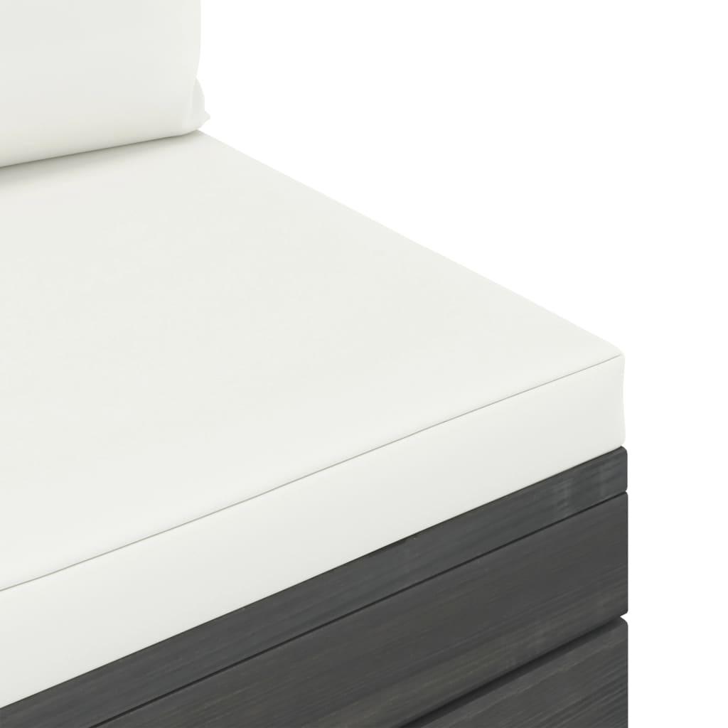 7-delige Loungeset met kussens pallet massief grenenhout