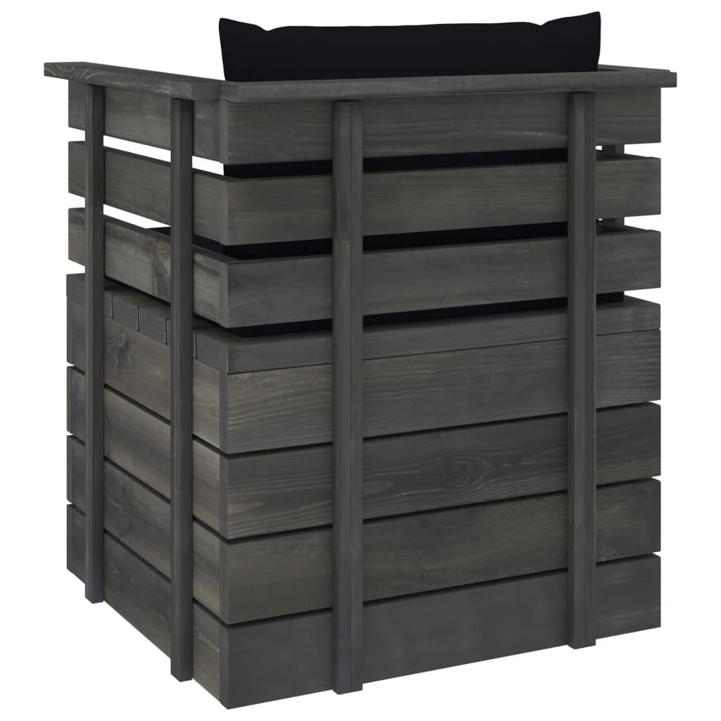 vidaXL 7-delige Loungeset met kussens pallet massief grenenhout
