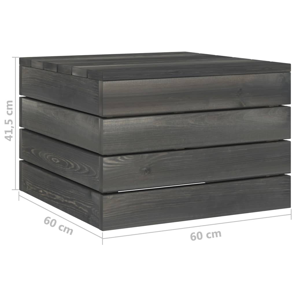 vidaXL 8-delige Loungeset met kussens pallet massief grenenhout