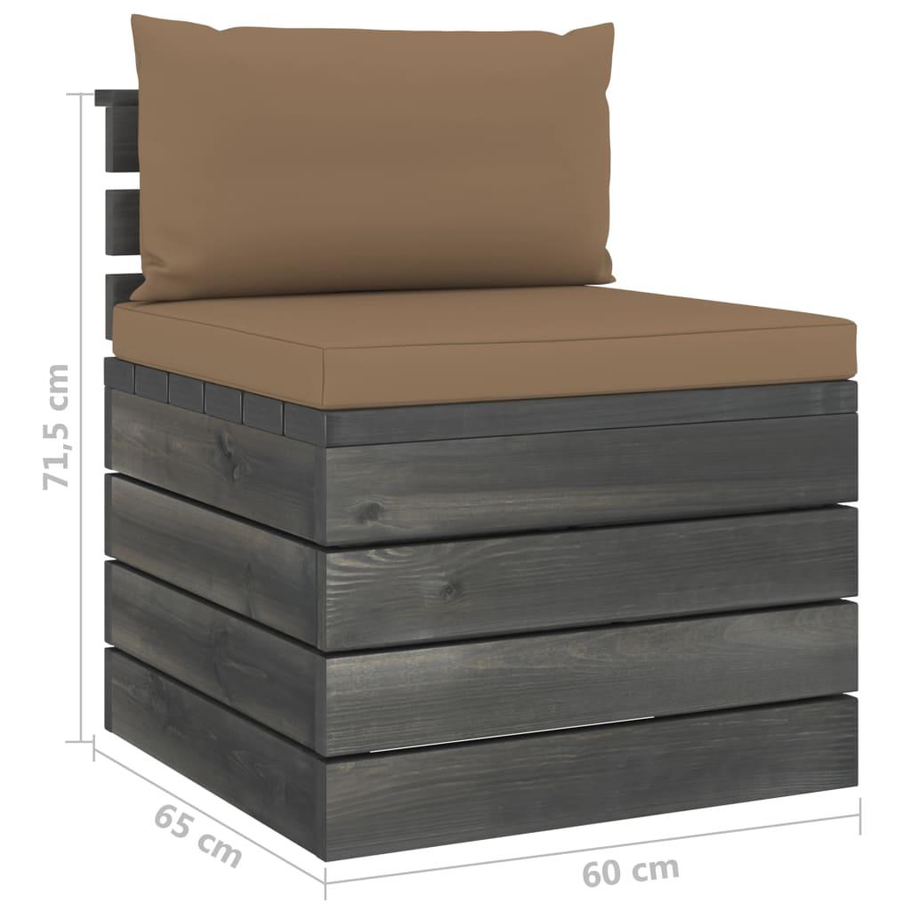 vidaXL 8-delige Loungeset pallet met kussens massief grenenhout