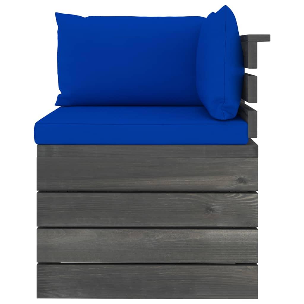 vidaXL 11-delige Loungeset met kussens pallet massief grenenhout
