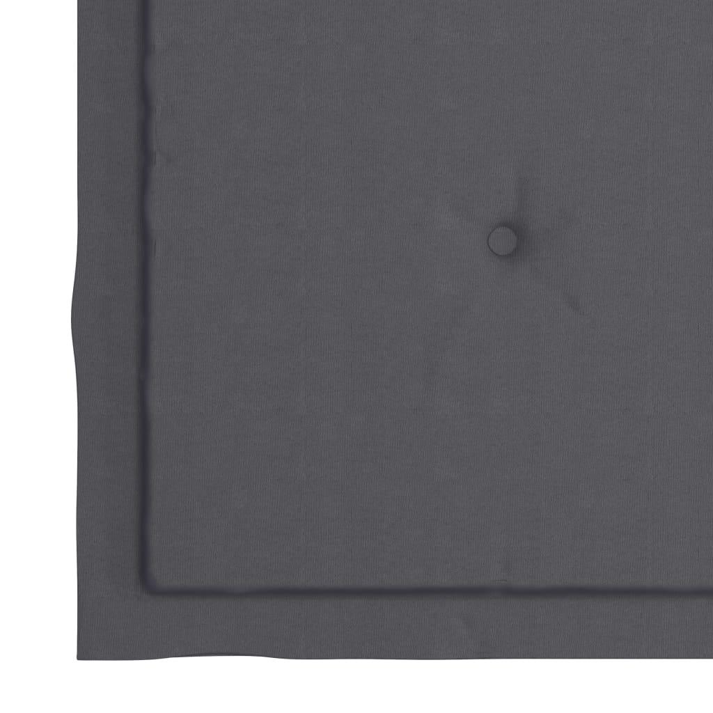 vidaXL Tuinstoelen 2 st met antracietkleurige kussens massief teakhout