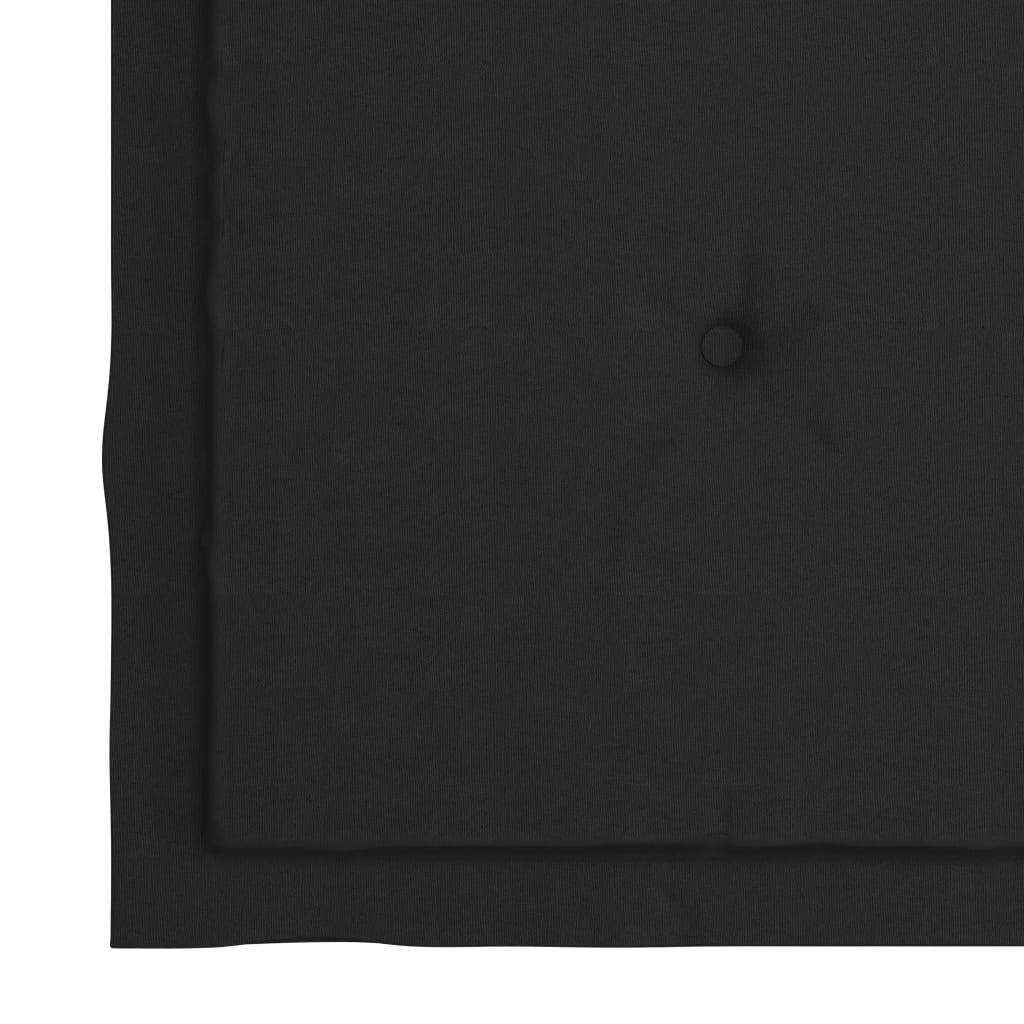 vidaXL Eetkamerstoelen 2 st met zwarte kussens massief teakhout