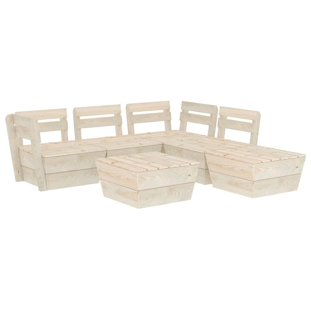 vidaXL Set mobilier grădină din paleți, 6 piese, lemn de molid tratat poza vidaxl.ro