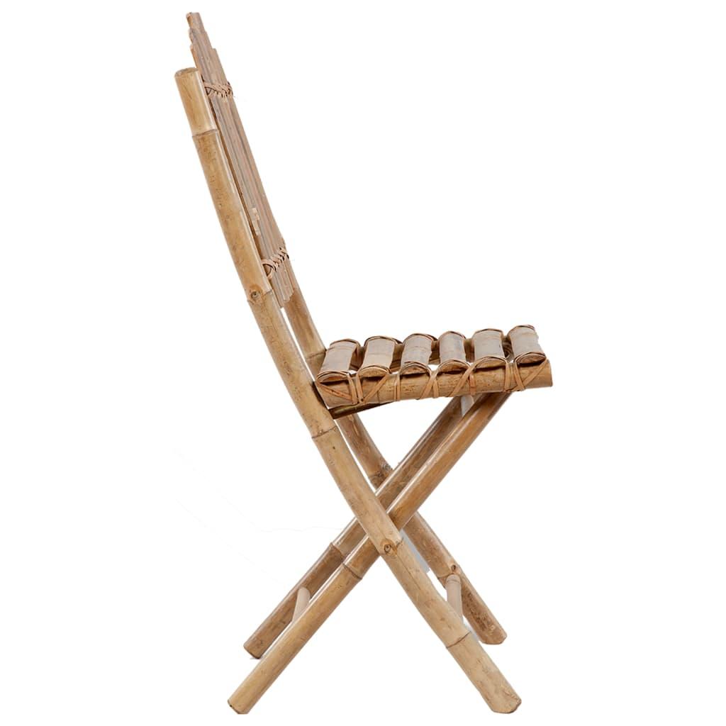 vidaXL 5-delige Tuinset inklapbaar met kussens bamboe