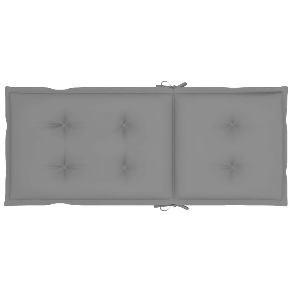 vidaXL Tuinstoelen 3 st inklapbaar met kussens massief acaciahout
