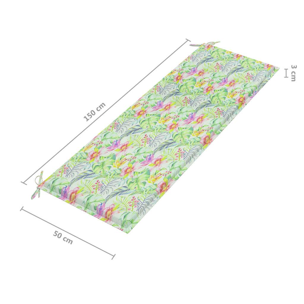 Tuinbank met kussen 157 cm massief acaciahout