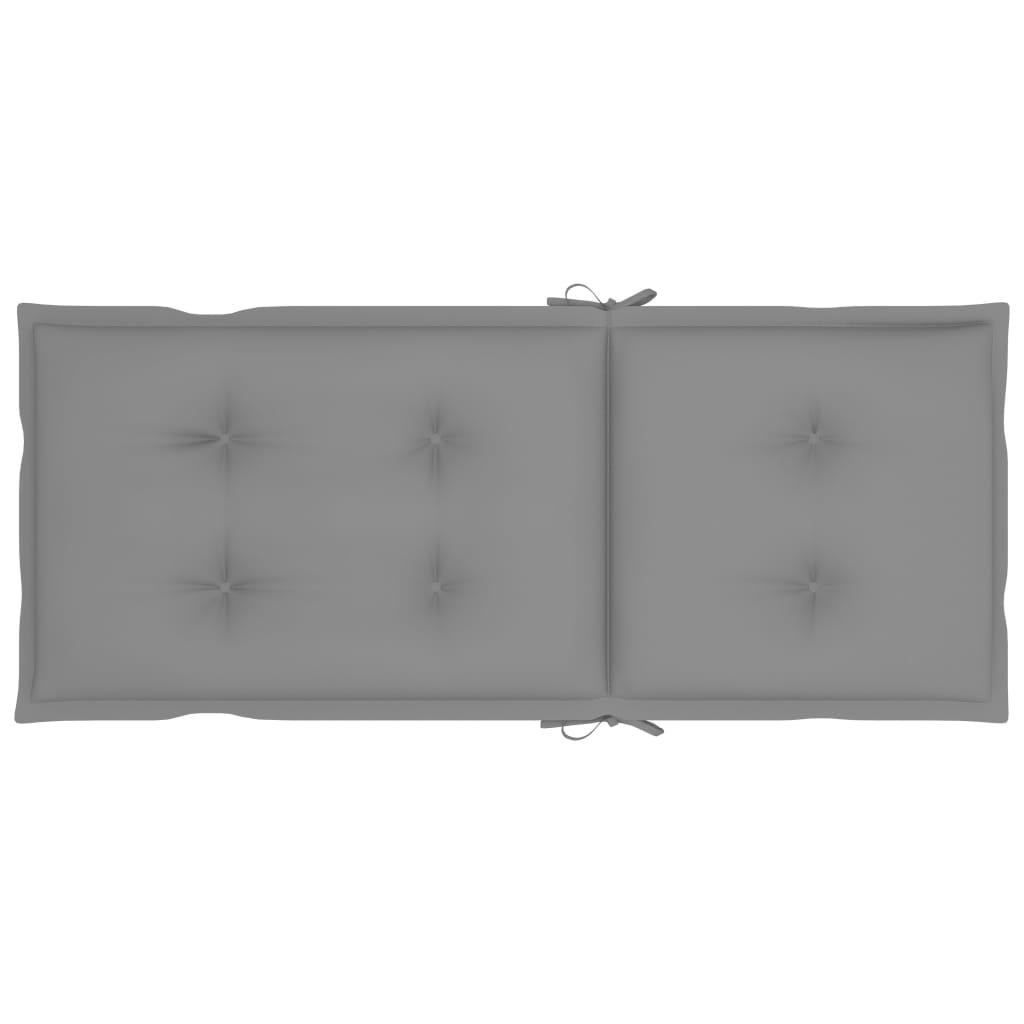vidaXL Tuinstoelen 3 st verstelbaar met kussens massief acaciahout