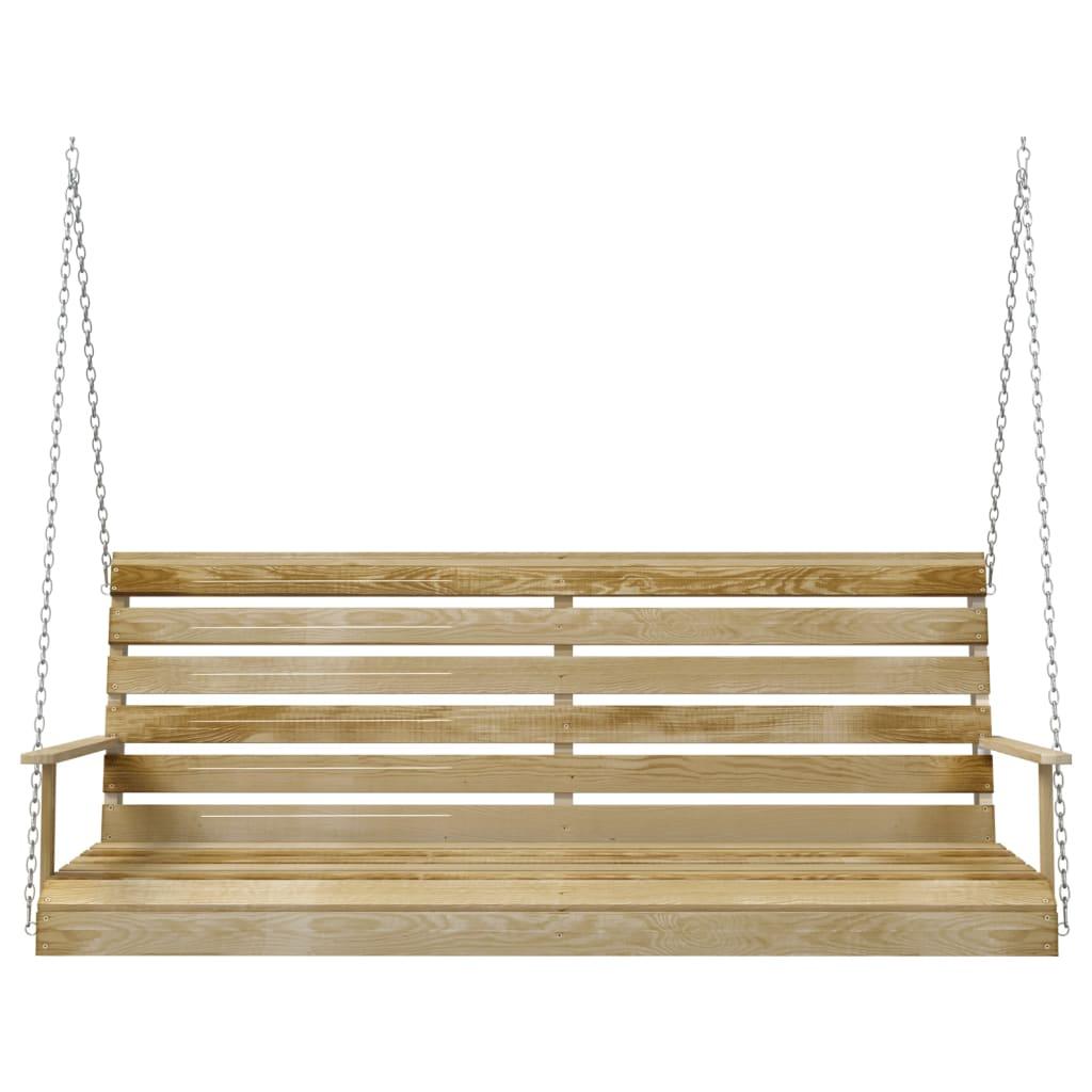 vidaXL Schommelbank 155x65x60 cm geimpregneerd grenenhout