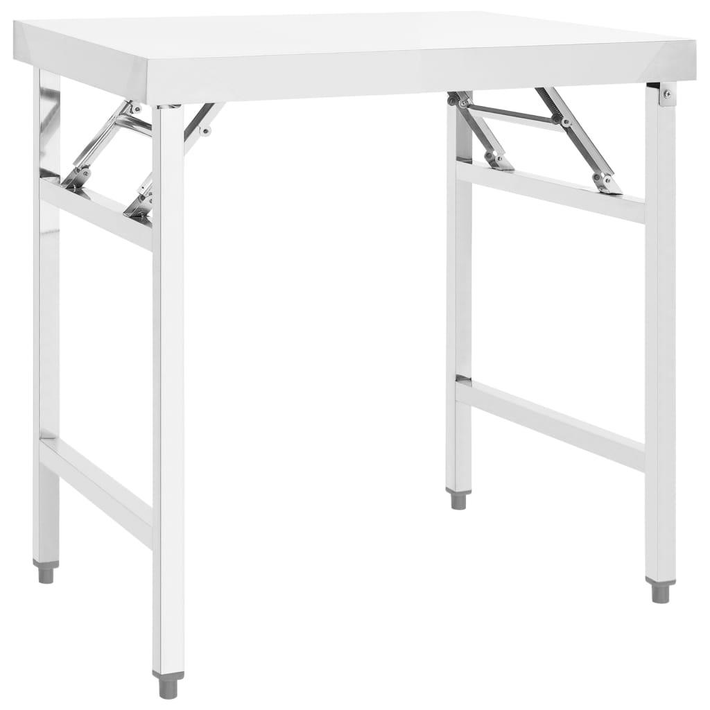 Kuchyňský pracovní stůl 85 x 60 x 80 cm nerezová ocel