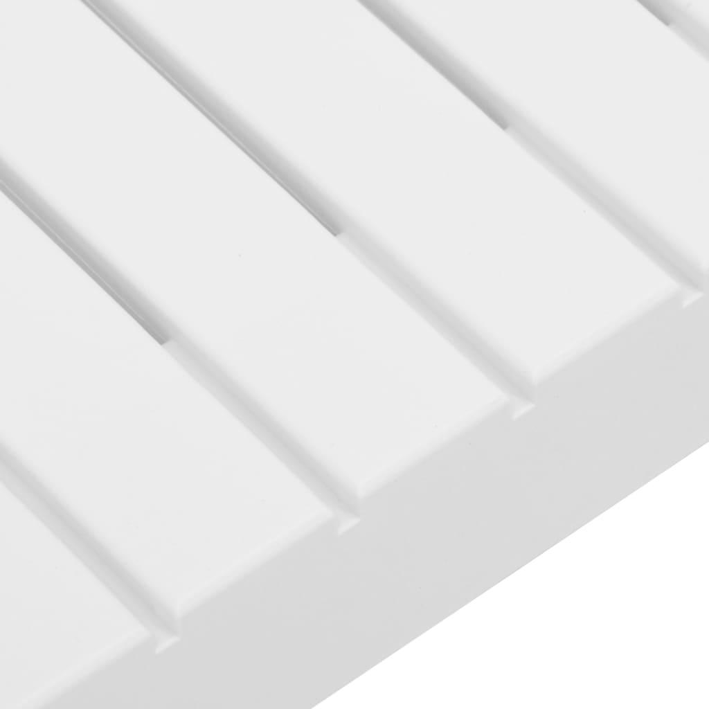 4-delige Loungeset met kussens kunststof wit