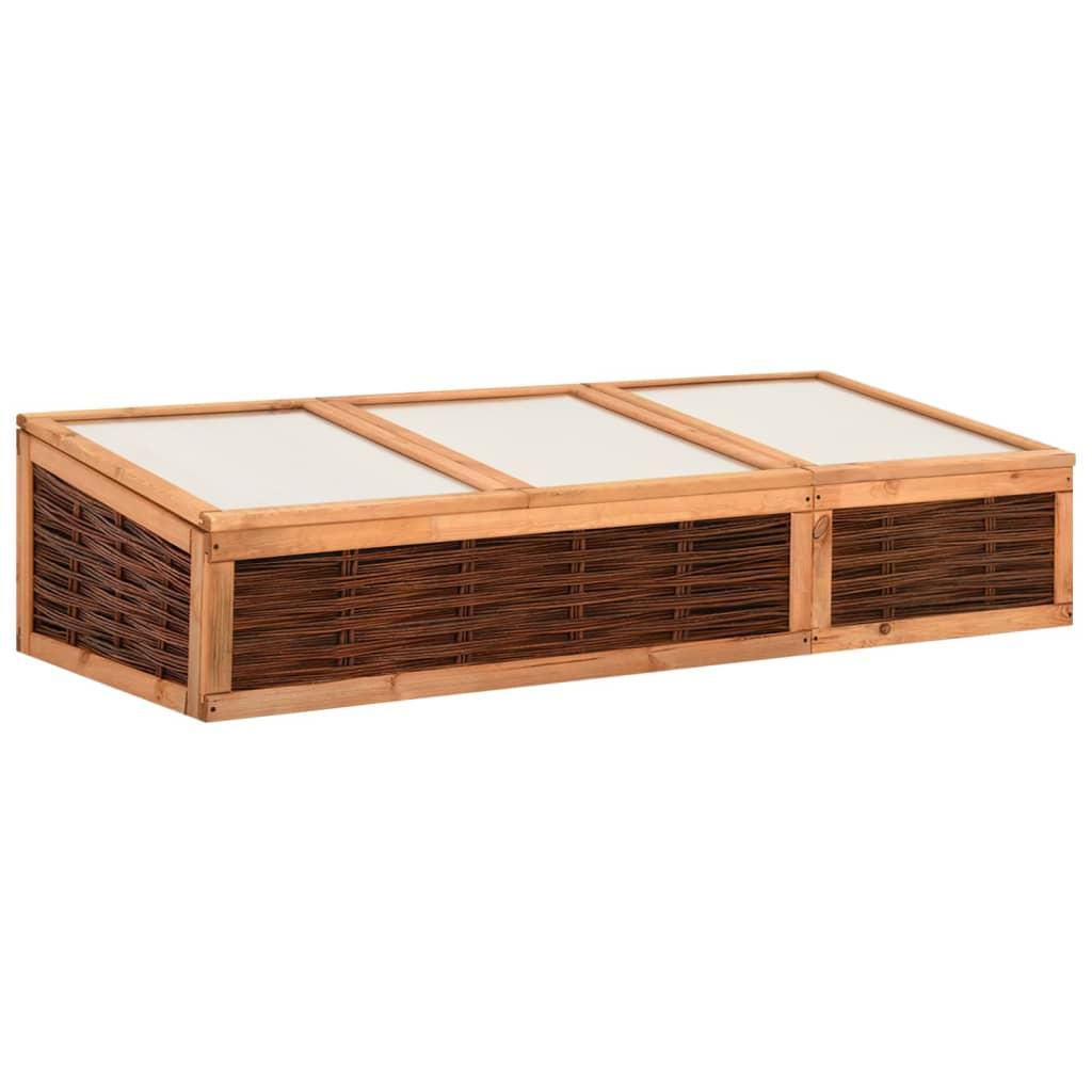 vidaXL Seră, 180x80x45 cm, lemn masiv de pin și salcie vidaxl.ro