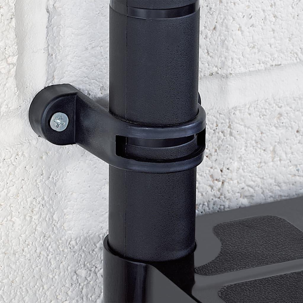 Opbergrek 4-laags 183x30,5x130 cm kunststof zwart
